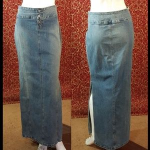 GUESS JEANS straight pencil below knee skirt 31
